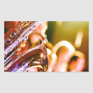 Band Music Musical Instruments Saxophones Horns Sticker