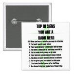 Band Nerd Top 10 Pinback Buttons