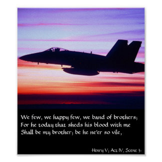 Band of Brothers - F-18 Poster
