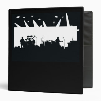 Band On Stage Concert Silhouette B&W Binders