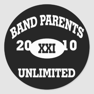 Band Parents Unlimited 2010 Classic Round Sticker