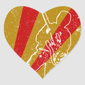 Band Poster Background Heart Sticker
