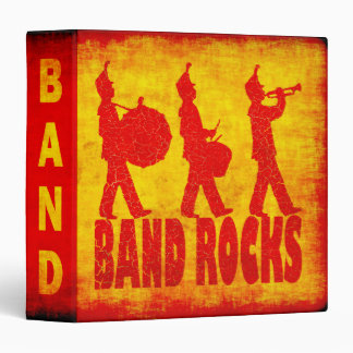 Band Rocks 3 Ring Binders