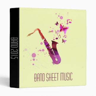 Band / sax Sheet Music band student folder Vinyl Binder