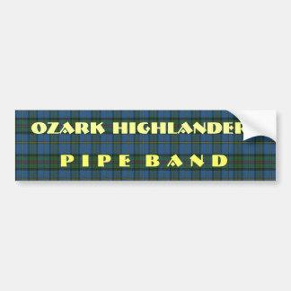 Band Tartan and text Bumper Sticker