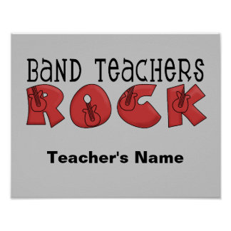 Band Teacher Customizable Poster