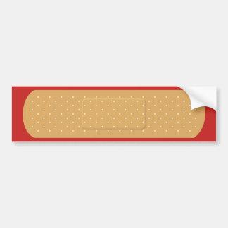 Bandaid for Red Car Bumper Sticker