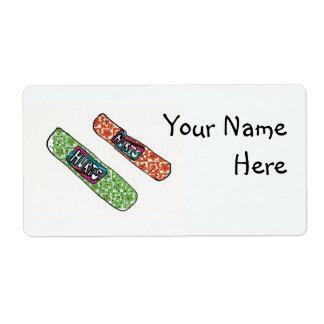 Bandaids Shipping Label