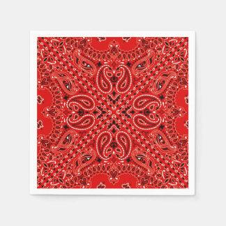 Bandana BBQ Picnic Exotic Paisley Scarf Print Paper Napkin