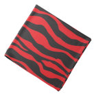 Bandana- Black and Red Zebra Striped Design Bandana