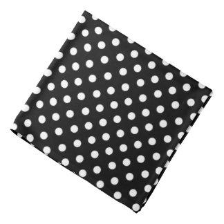 Bandana - Black With White Polka Dots