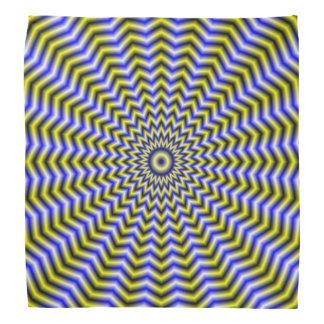 Bandana  Blue and Yellow Zigzag Ripples