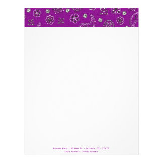 Bandana Customizable Letterhead
