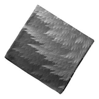 Bandana de motif de plume de tartan de gris