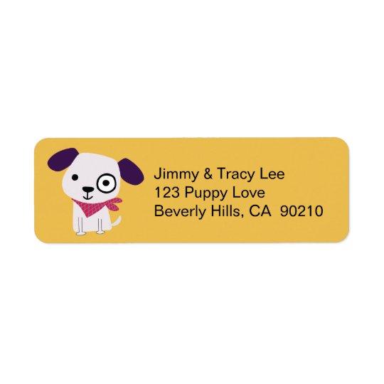 Bandana Doggy, Address Labels, yellow