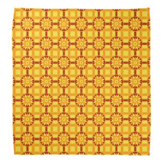 Bandana Geometric 318 Red & Gold