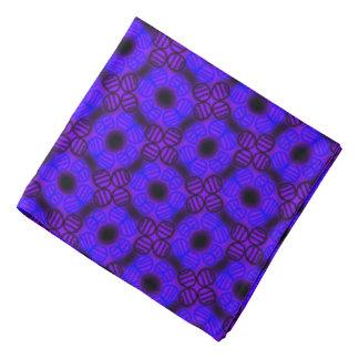 Bandana Jimette black mauve blue Design
