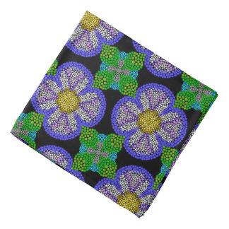 Bandana Jimette black mauve green Design blue