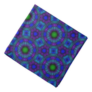 Bandana Jimette blue and green mauve Design