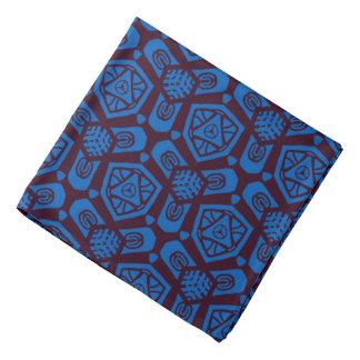 Bandana Jimette blue Design and Burgundy