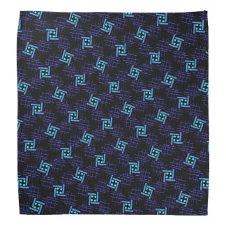 Bandana Jimette Design blue and mauve on black