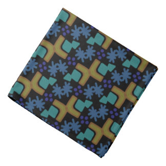 Bandana Jimette Design blue and orange on black