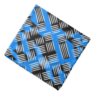 Bandana Jimette Design blue and white on black