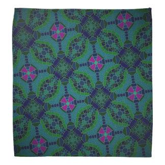 Bandana Jimette Design blue green fuchsia