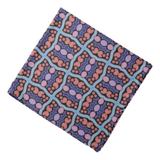 Bandana Jimette Design blue pink and red