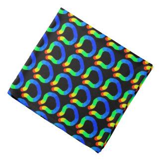 Bandana Jimette Design colors black rainbow