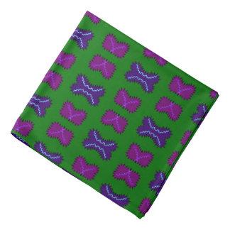 Bandana Jimette Design green and mauve
