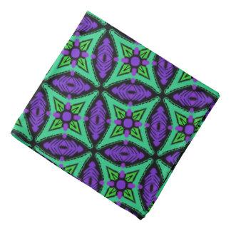 Bandana Jimette Design green and mauve on black