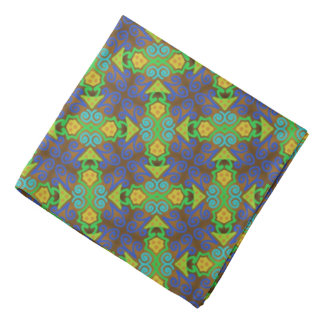 Bandana Jimette Design green and yellow on grey