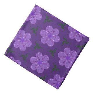 Bandana Jimette Design lilac on mauve