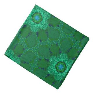 Bandana Jimette Design made of green flowers.