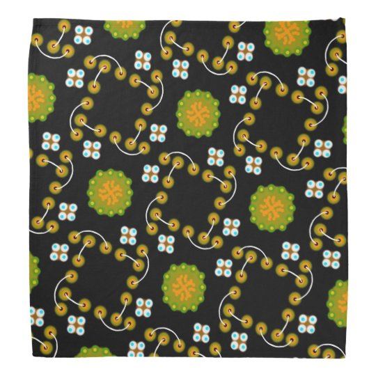 Bandana Jimette Design made of yellow, green and
