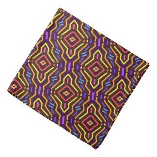 Bandana Jimette Design multicolor on Burgundy