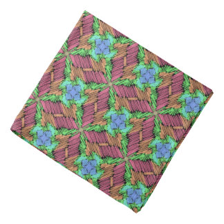 Bandana Jimette Design orange blue green black