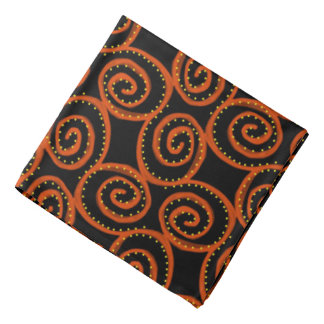 Bandana Jimette Design orange on black