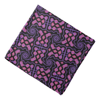 Bandana Jimette Design pink and mauve on black