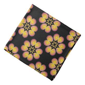 Bandana Jimette Design pink and yellow on black