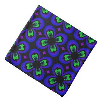 Bandana Jimette green and mauve and black Design