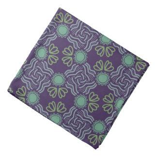 Bandana Jimette green Design on mauve