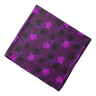 Bandana Jimette mauve and black pink Design