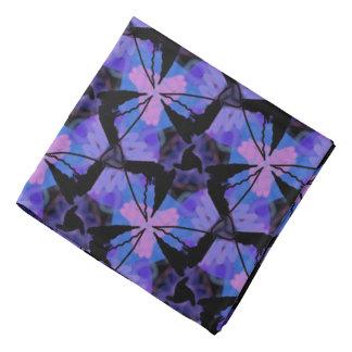 Bandana Jimette mauve and black pink Design blue