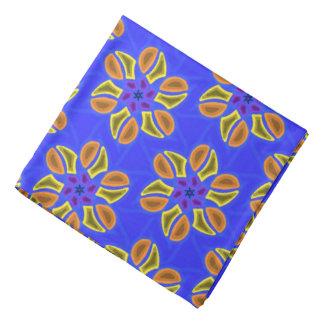 Bandana Jimette mauve Design blue fuchsia on black