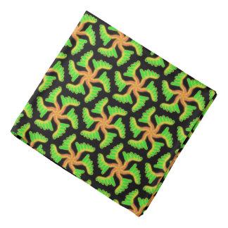 Bandana Jimette orange and green Design on black