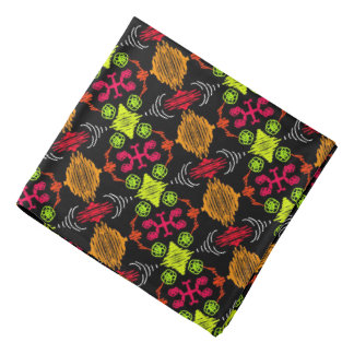Bandana Jimette orange red yellow Design on black