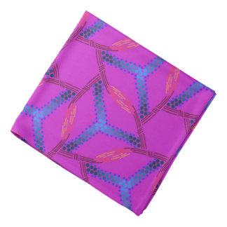 Bandana Jimette turquoise Design on fuchsia