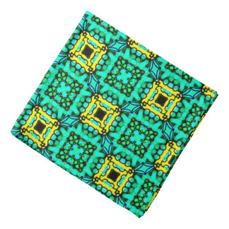 Bandana Jimette yellow and green Design